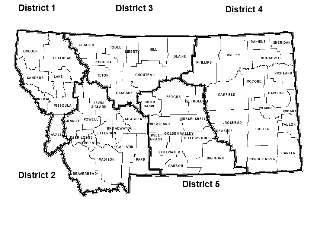 Montana Private Applicator Regions